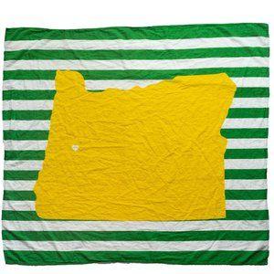Oregon Ducks Inspired Baby Blanket Organic
